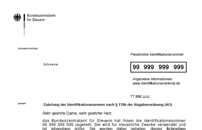 Tax ID in Germany